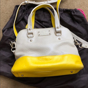 Kate Spade Grey and Yellow Satchel